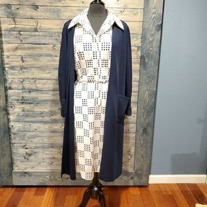 Vintage Adele Simpson Dot Shirtdress Wool Coat
